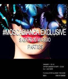 Stasera vi aspetta l'appuntamento con il  Moscabianca #Riccione e Ale Neri