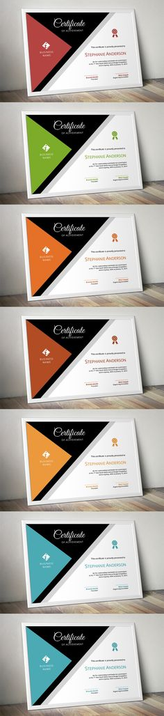 Modern corporate certificate. Stationery Templates