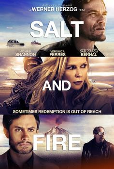 SALT AND FIRE is about a mysterious hostage-taking where the leader of a small scientific delegation is deliberately stranded with two blind boys in an area of gigantic salt flats. Shot in Bolivia, the film stars Michael Shannon, Veronica Ferres and Gael García Bernaland, and was written and directed by Werner Herzog.