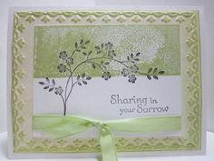 Sympathy card by mathgirl - Cards and Paper Crafts at Splitcoaststampers