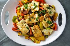 Halloumi with Bell Peppers, Carrots, Capers and So Much Other Good Stuff   Things I Made Today