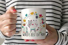 Cat Mom Mug Funny Cat Mug Cat Lover Mug Crazy Cat Lady by MixMugs