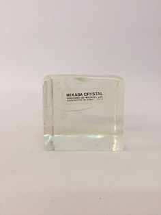 Michael Lax Mikasa Crystal Ice Cube Paperweight by AnthonyRosaModern on Etsy