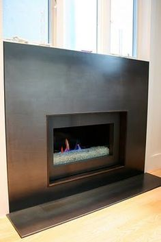 hot rolled steel fireplace surround