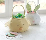 Free Pattern Pottery Barn inspired Easter Bunny Basket Sewing Project