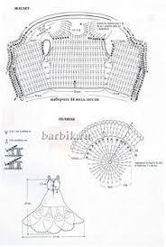 Картинки по запросу праздничные платья крючком для барби 1998