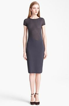 Armani Collezioni Microstripe Jersey Dress available at #Nordstrom. I love that it is kinda see-thru.