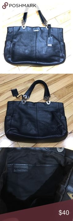 Calvin Klein Black leather pebble grain hobo purse Very nice Calvin Klein pebble grain leather black purse excellent condition has two side pockets one for a phone inside has two pockets for phone and wallet and a zipper pocket magnetic closure very cute purse roomy non-smoking home fast delivery at an excellent price get it today Calvin Klein Bags Hobos