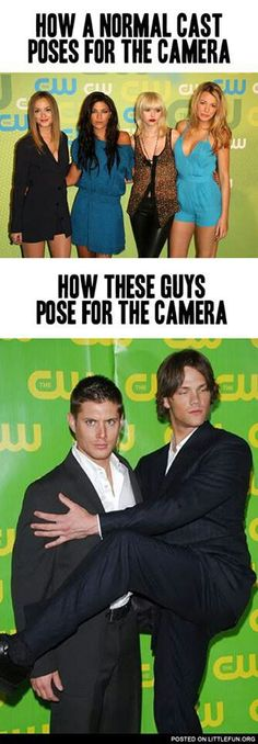 I mean, they're Jensen and Jared. What did you expect them to do? Be normal?