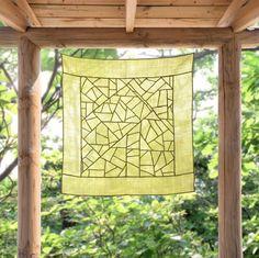 Modernized traditional Korean Fabric art and décor, Jogakbo - Sheer shade…