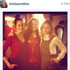 Vanity Fair's Krista Smith forgot her Sundance overalls with Bree Larson Shailene Woodley #regram