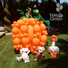 Calabaza gigante de globos