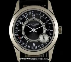 """What do you get the man that has everything? Say """"thank-you"""" this Father's Day and wrap Dads wrist in luxury. Choose that perfect gift from our finest selection of timepieces. Patek Philippe 18k White Gold Anthracite Dial Calatrava Gents B&P 6000G-010"""