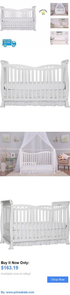 Baby Nursery: Newborn Baby Crib Convertible Nursery Furniture Toddler Bed Mattress Adaptable BUY IT NOW ONLY: $163.19 #priceabateBabyNursery OR #priceabate