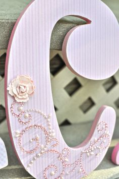 Custom Wooden Nursery Letters Baby Girl Nursery by TheRuggedPearl