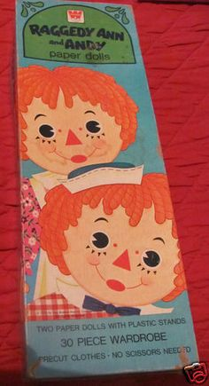 Vintage Raggedy Ann and Andy Paper Dolls 1970S | eBay