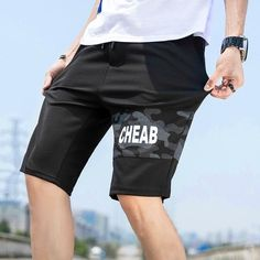 YUNY Mens Summer Running Sports Elastic Bottom Sports Leisure Work Pant Coffee L