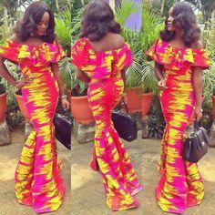 Hors épaule robe Cape Ankara par Africandressshop sur Etsy