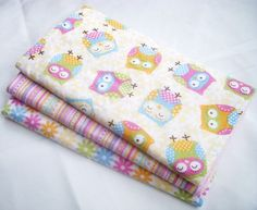 Baby Girl Burp Cloth Gift Set - Sweet Owls - Set of 3 Burp Pads with Terry Cloth Backing by MomNMiaQuilts (etsy.com)