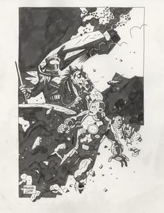 Iron Man versus the Masters of Evil by Mike Mignola