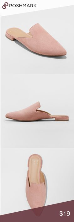 f14f7cb91e9 NWT A New Day Blush Pink Backless Loafer Mule 11 NWT