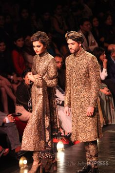 Sabyasachi presented the he and she versions of the sherwanis and kurta churidars. However, the feminity of his designs shone on the female ...