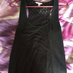 American Eagle tank Brand new American Eagle black tank. See through back. Brand new and never worn. I only took the tag off. Price is negotiable but please make all offers through the offer button ☺️ American Eagle Outfitters Tops Tank Tops