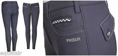 NEW PIKEUR JASHA FULL SEAT PREMIUM BREECHES - NAVY BLUE - ALL SIZES
