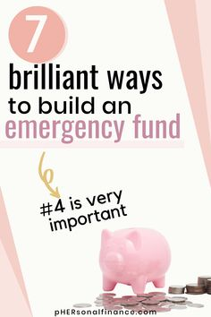 Having an emergency fund is the first step to achieving financial freedom. Learn seven ways you can start and build an emergency fund today from scratch no matter your income. Making A Budget, Create A Budget, Money Tips, Money Saving Tips, Sinking Funds, Money Saving Challenge, Budget Template, Managing Your Money, Financial Success