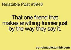I love those friends!