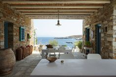 outdoor kitchen views in Serifos island