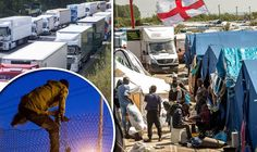 MIGRANTS inside the Calais Jungle told yesterday how they were .plotting to sneak into Britain before the camp is bulldozed.16
