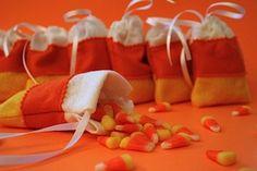 candy corn gift bag