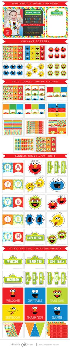 Elmo Invitation Elmo Invite Elmo Birthday Sesame by GardellaGlobal