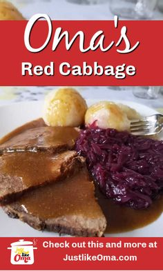 ❤️ German Red Cabbage Recipe made Just like Oma ❤️ German Red Cabbage Recipe made Just like Oma,Deutschland Deutschland Uber Alles! Oma's red cabbage recipe! A delicious side for any meal. Super easy to. Vegetable Side Dishes, Vegetable Recipes, German Red Cabbage Recipes, German Recipes, Tartiflette Recipe, Buttered Cabbage, Oktoberfest Food, German Oktoberfest, Vegetarian