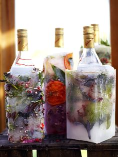 Make a protective frozen shield to keep drinks cold for your BBQ- easy to do…