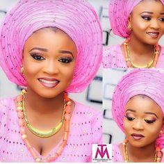 #asoebispecial #asoebi #speciallovers #makeup #wedding  Beads @r3labels  Asooke @gbemmysart  Glam @_timelessbeauty