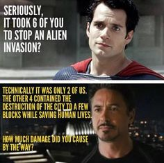 Tony's response for that joke about the alien invasion...