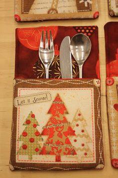 TELA MARINERA, Patchwork: Butxaques coberts de Nadal