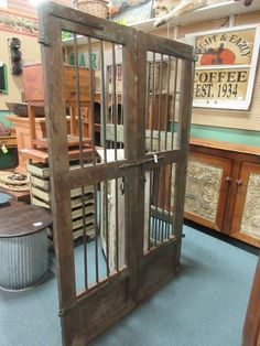 Set of old wood and iron gate doors. From Vendor 656 in booth 69. & Antique European iron doors. Available at the Brass Armadillo ...
