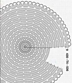 crochet round circular top diagram pattern with armholes. make two circles and put them together to make a top/vest.