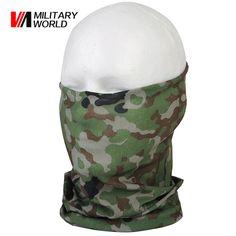 Tactical Camo Grey Stealth Creatures Face Sock™ Bandana Mask Neck Scarf UV