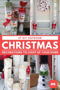 Check out these homemade DIY outdoor Christmas decorations that make it cheap and easy to get your home and yard in the Christmas spirit this season! Christmas Decor Diy Cheap, Christmas Garden Decorations, Diy Christmas Lights, Decorating With Christmas Lights, Christmas Diy, Christmas Items, Navidad Simple, Navidad Diy, Dollar Store Christmas
