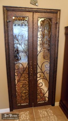 Home iron doors and interior doors on pinterest - Interior decorative wrought iron gates ...