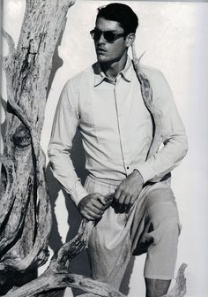 DAMIR DOMA Mens Spring Summer 2012 trousers featured in the SS12 issue of L'Officiel Hommes (Italy).