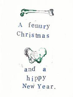 Anatomy Christmas Card, $3.0