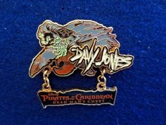 Disney DLR Pirates of the Caribbean Davy Jones Movie Title Dangle Trading PIn #disney #disneyland #disneytradingpin #pin #pins #tradingpin #davyjones #pirates #piratesofthecaribbean #danglepin #collectible #glowinthedark