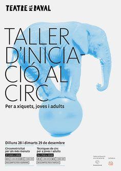Cartel para el taller de iniciación al circo del Teatro del Raval de Gandía. 2015 – Baptiste Pons, diseño