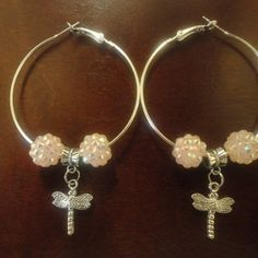 Ice Pink Dragon Fly Hoops
