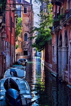 Shady Canal in Venice